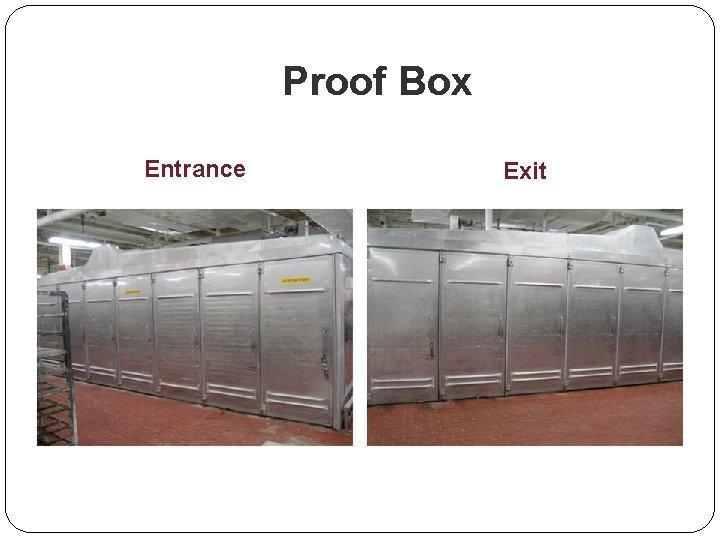 Proof Box Entrance Exit