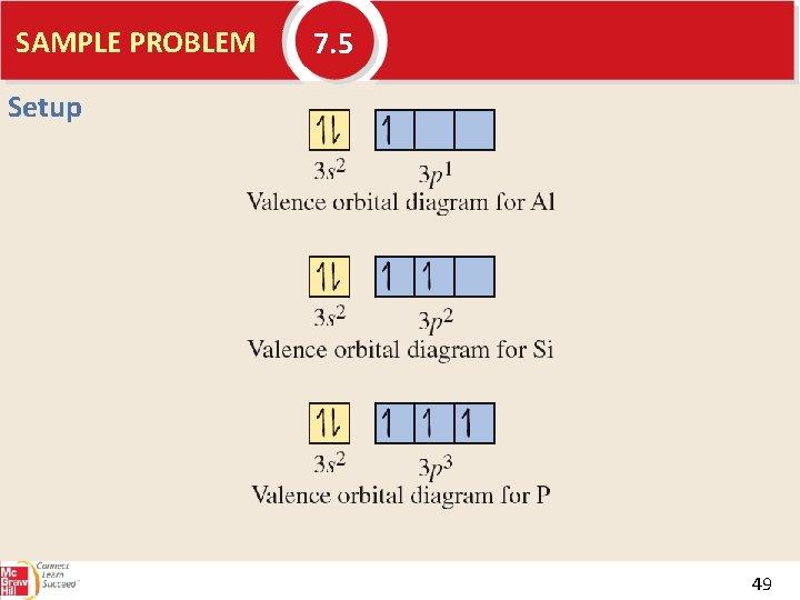 SAMPLE PROBLEM 7. 5 Setup 49