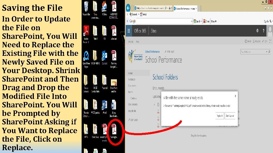 Saving the File In Order to Update the File on Share. Point, You Will