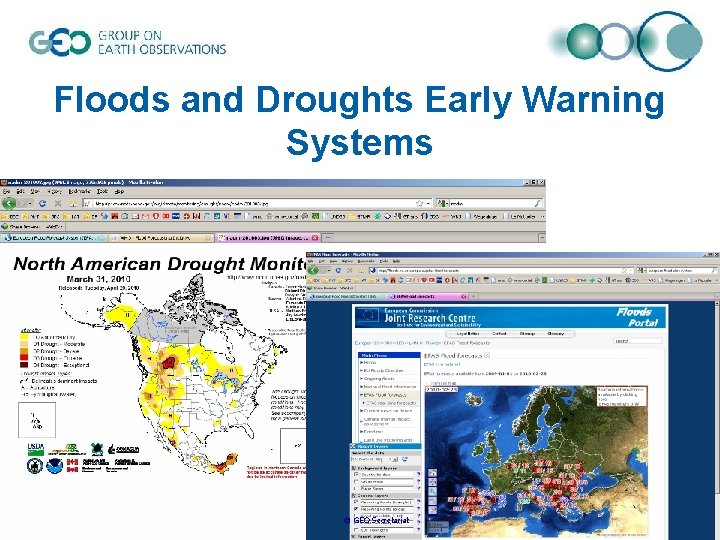 Floods and Droughts Early Warning Systems © GEO Secretariat
