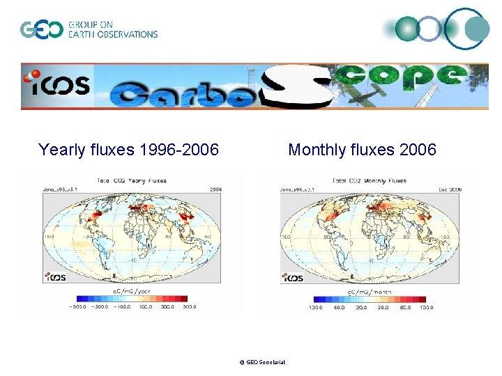 Yearly fluxes 1996 -2006 Monthly fluxes 2006 © GEO Secretariat
