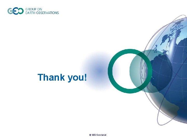 Thank you! © GEO Secretariat