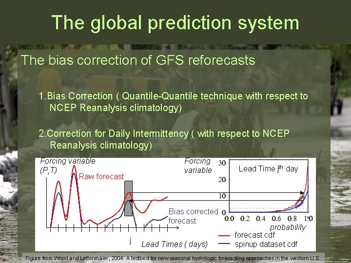 The global prediction system The bias correction of GFS reforecasts 1. Bias Correction (