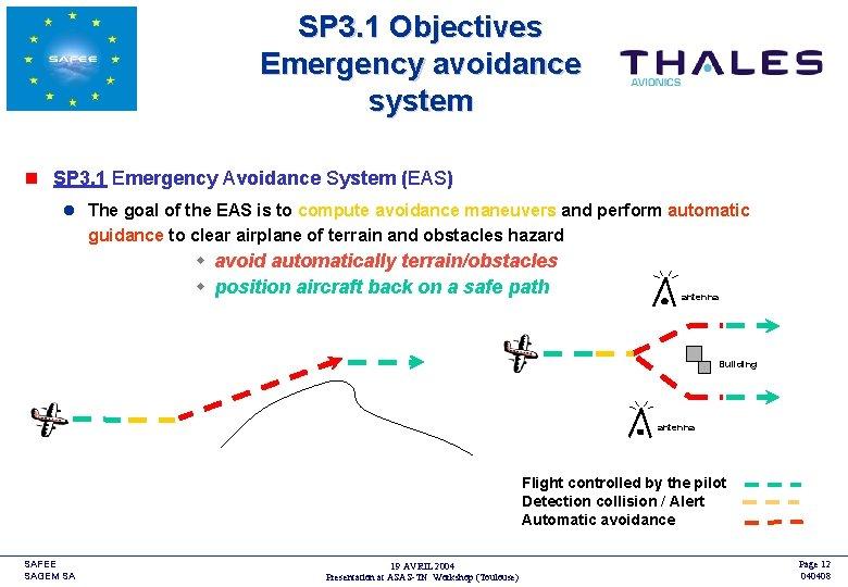 SP 3. 1 Objectives Emergency avoidance system <COMPANY LOGO> n SP 3. 1 Emergency