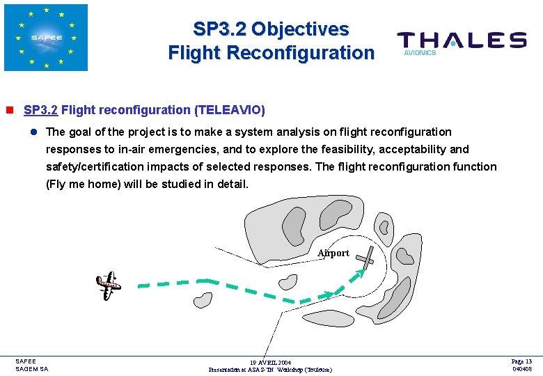 SP 3. 2 Objectives Flight Reconfiguration <COMPANY LOGO> n SP 3. 2 Flight reconfiguration
