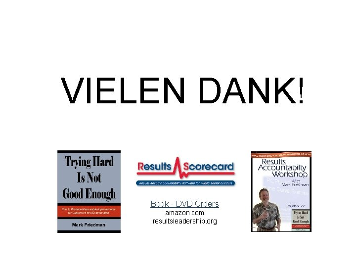 VIELEN DANK! Book - DVD Orders amazon. com resultsleadership. org