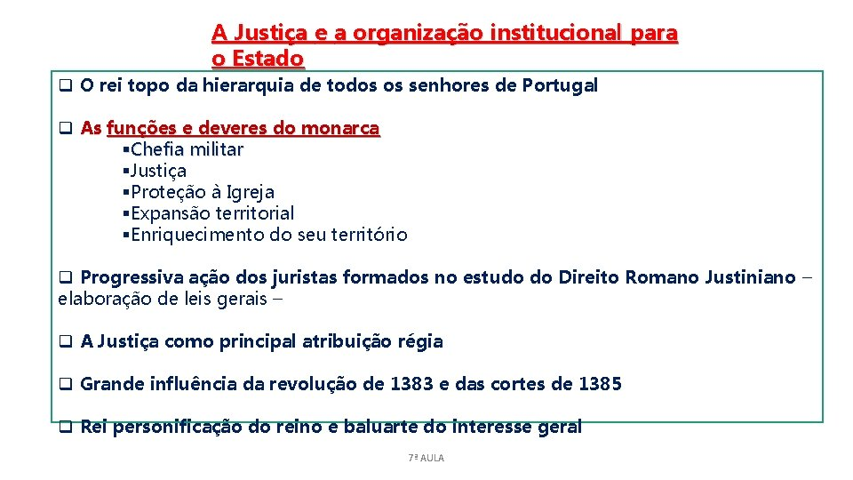 A Justiça e a organização institucional para o Estado q O rei topo da