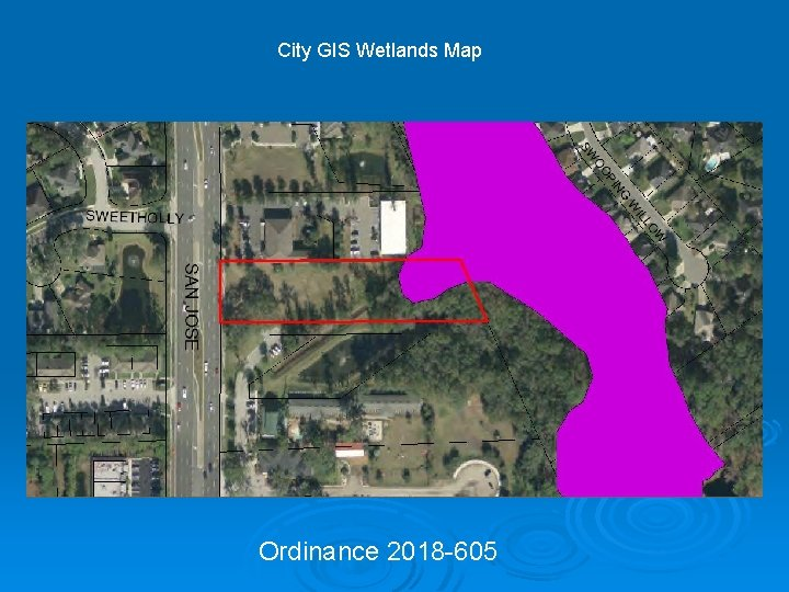 City GIS Wetlands Map Ordinance 2018 -605