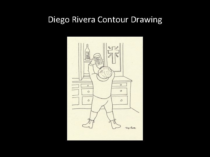 Diego Rivera Contour Drawing