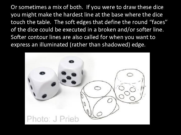 Or sometimes a mix of both. If you were to draw these dice you