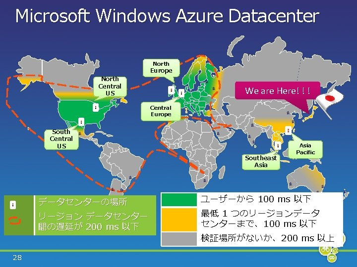 Microsoft Windows Azure Datacenter North Central US Europe We are Here! ! ! Central