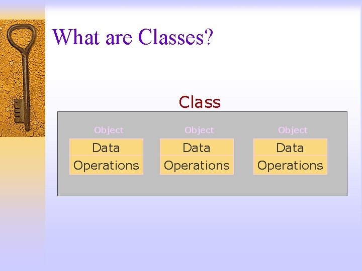 What are Classes? Class Object Data Operations