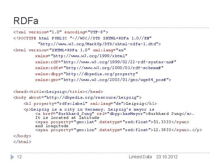 """RDFa <? xml version=""""1. 0"""" encoding=""""UTF-8""""> <!DOCTYPE html PUBLIC """"-//W 3 C//DTD XHTML+RDFa 1."""
