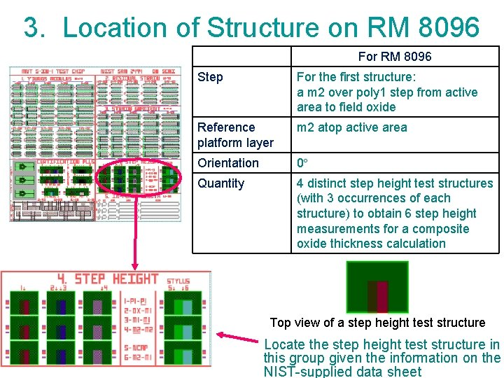 3. Location of Structure on RM 8096 For RM 8096 Step For the first