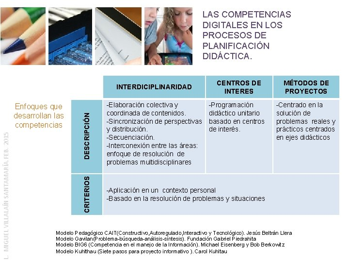LAS COMPETENCIAS DIGITALES EN LOS PROCESOS DE PLANIFICACIÓN DIDÁCTICA. MÉTODOS DE PROYECTOS -Programación didáctico