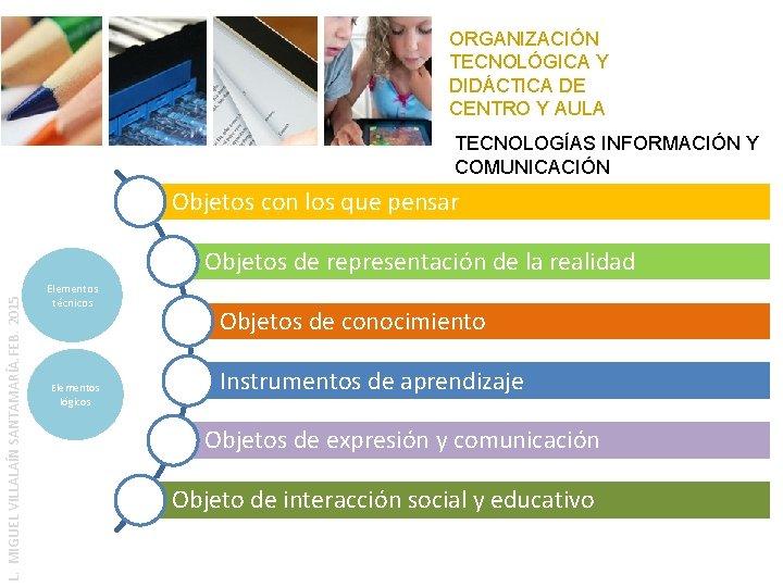 ORGANIZACIÓN TECNOLÓGICA Y DIDÁCTICA DE CENTRO Y AULA TECNOLOGÍAS INFORMACIÓN Y COMUNICACIÓN Objetos con