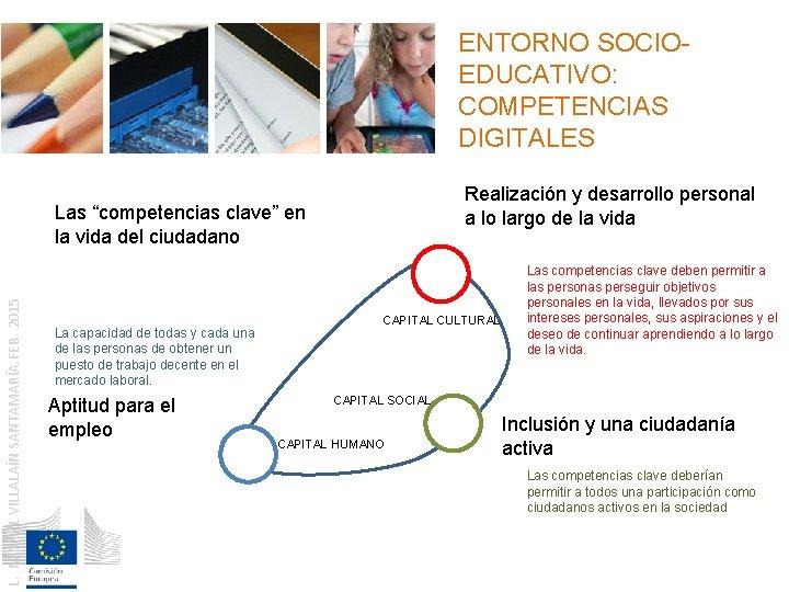 ENTORNO SOCIOEDUCATIVO: COMPETENCIAS DIGITALES Realización y desarrollo personal a lo largo de la vida