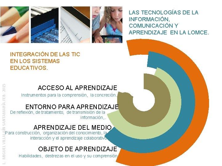 LAS TECNOLOGÍAS DE LA INFORMACIÓN, COMUNICACIÓN Y APRENDIZAJE EN LA LOMCE. L. MIGUEL VILLALAÍN