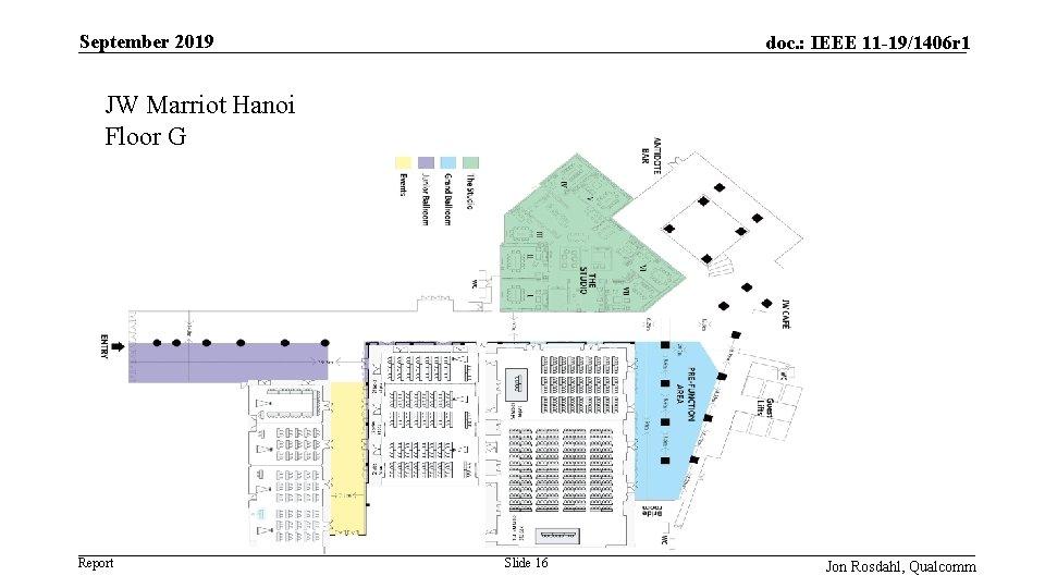 September 2019 doc. : IEEE 11 -19/1406 r 1 JW Marriot Hanoi Floor G