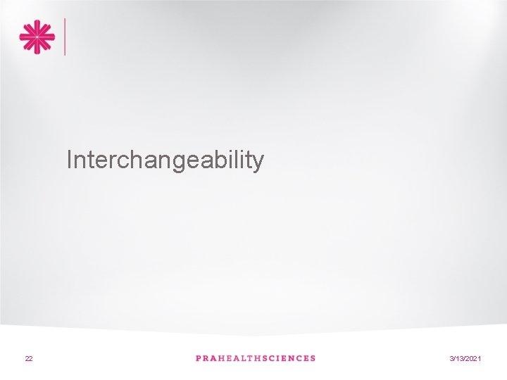 Interchangeability 22 22 3/13/2021