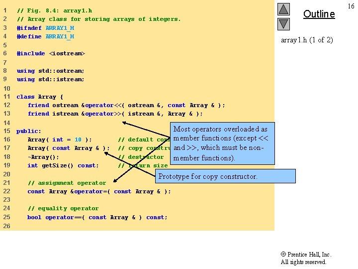 1 2 3 4 // Fig. 8. 4: array 1. h // Array class