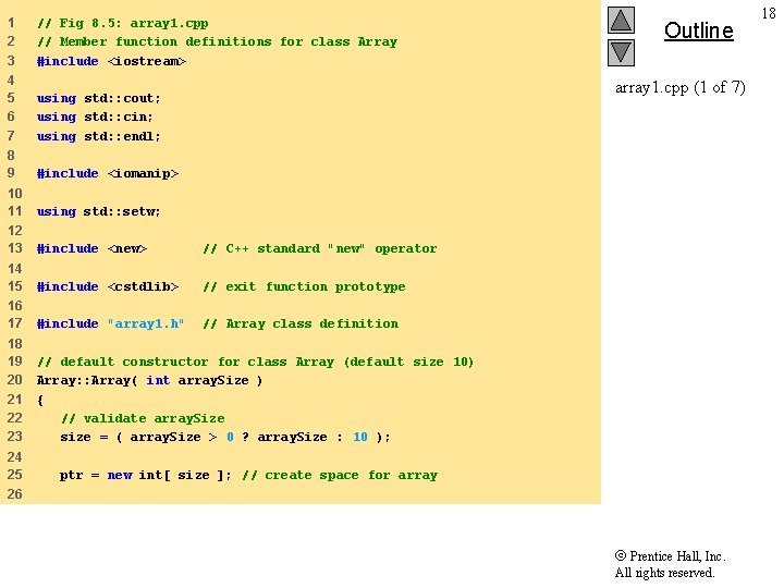 1 2 3 // Fig 8. 5: array 1. cpp // Member function definitions