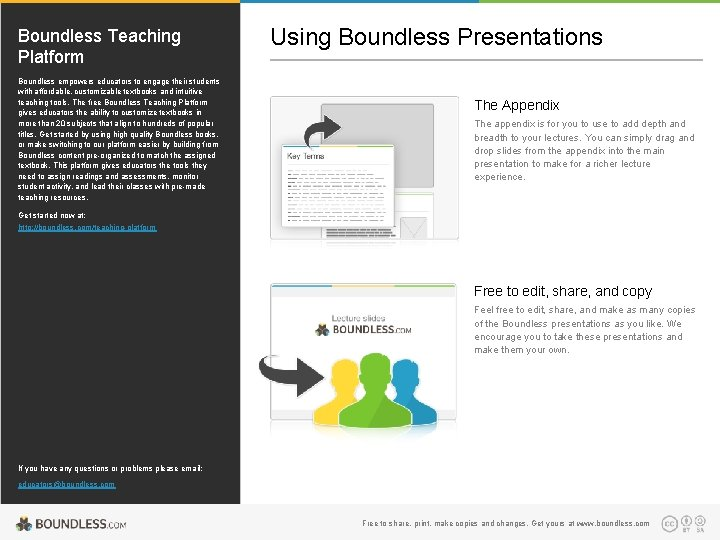 Boundless Teaching Platform Boundless empowers educators to engage their students with affordable, customizable textbooks