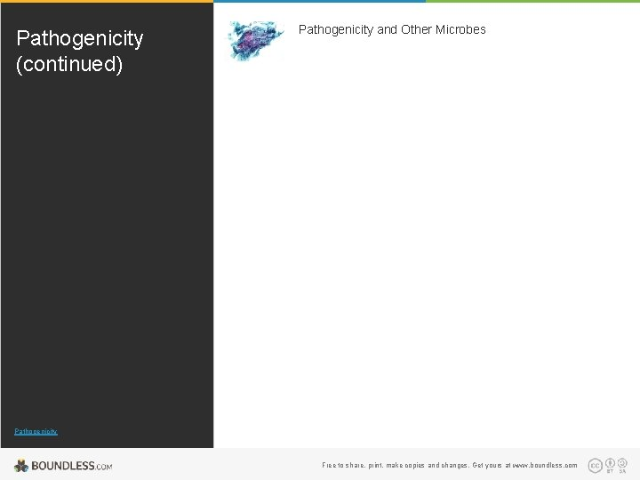 Pathogenicity (continued) Pathogenicity and Other Microbes Pathogenicity Free to share, print, make copies and