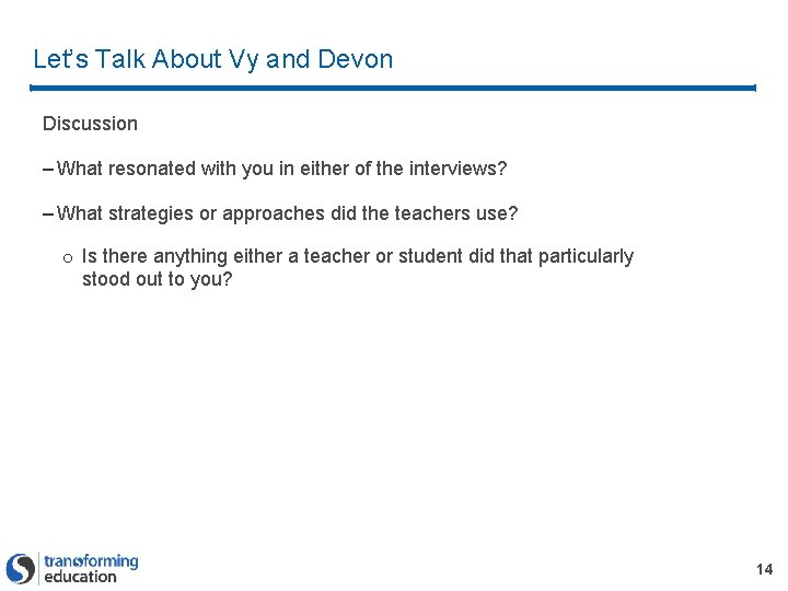 Let's Talk About Vy and Devon Discussion – What resonated with you in either