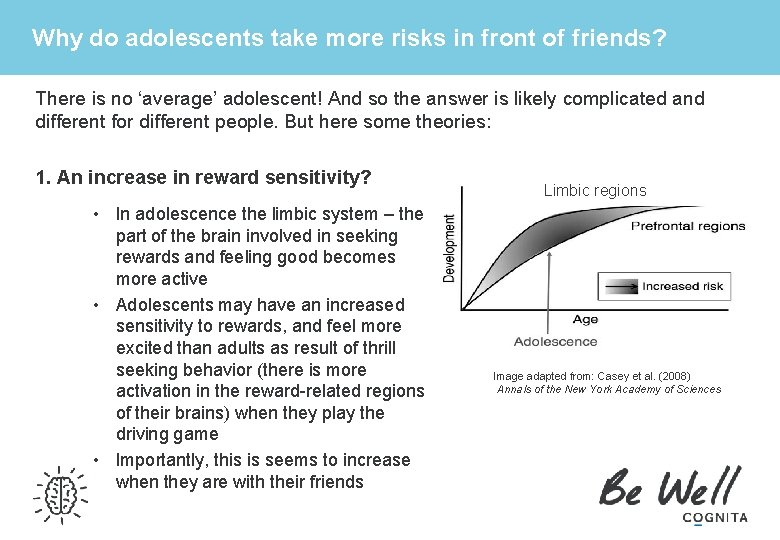 Why do adolescents take more risks in front of friends? There is no 'average'