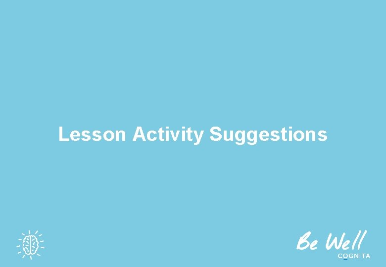 Lesson Activity Suggestions