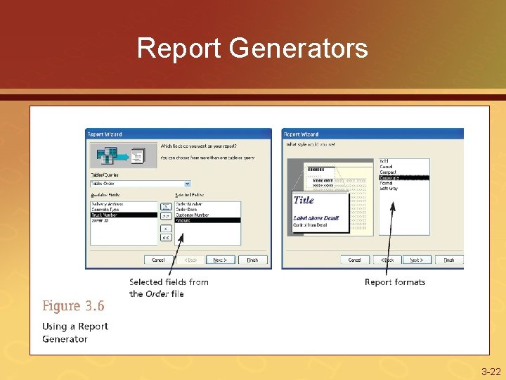 Report Generators 3 -22