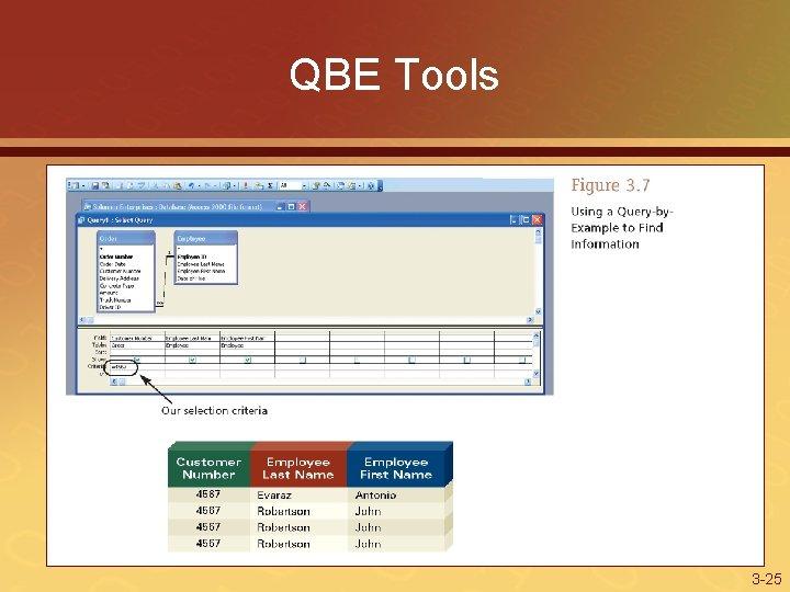 QBE Tools 3 -25