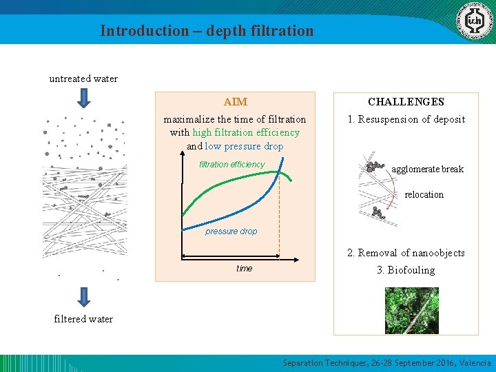 Introduction – depth filtration untreated water AIM CHALLENGES maximalize the time of filtration with