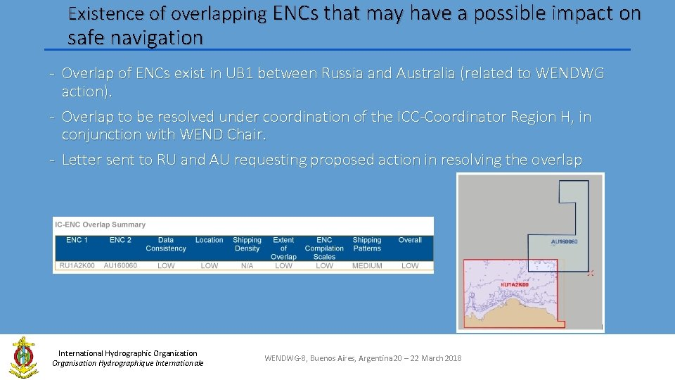 Existence of overlapping ENCs that may have a possible impact on safe navigation -