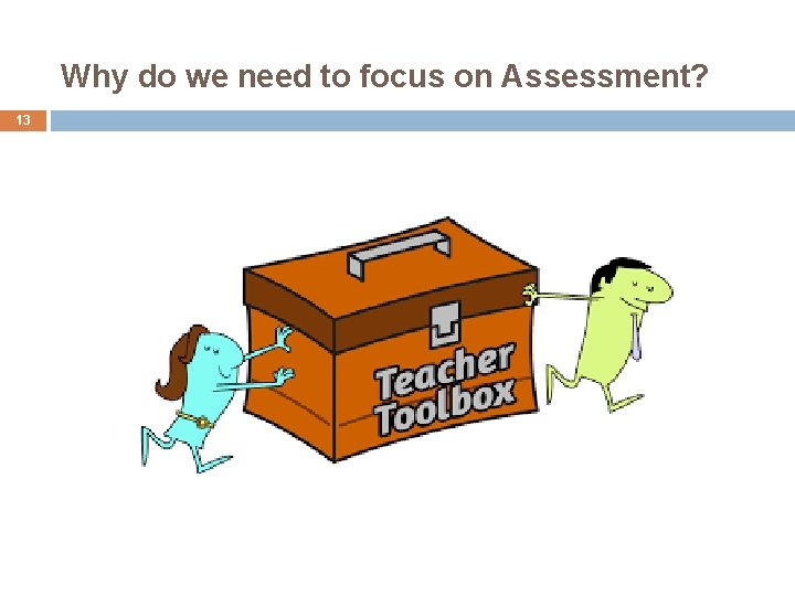 Why do we need to focus on Assessment? 13