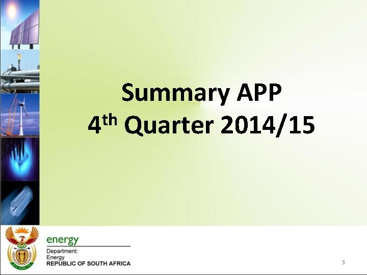 Summary APP th 4 Quarter 2014/15 3