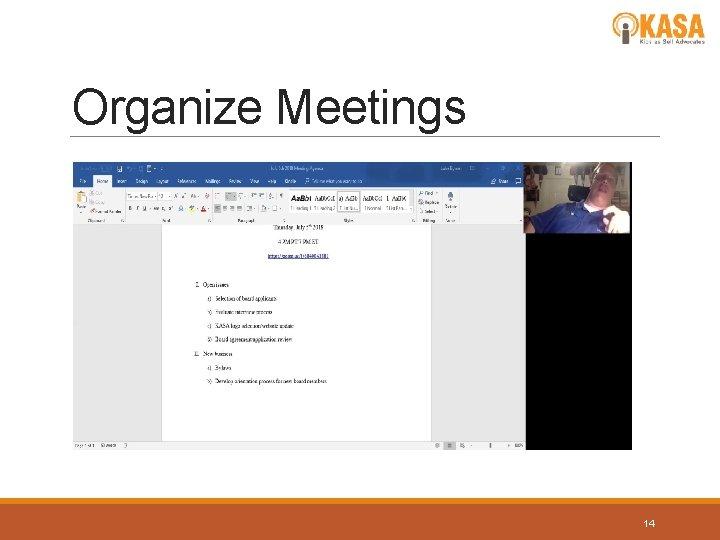 Organize Meetings 14