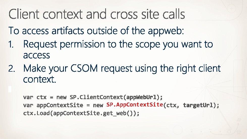 SP. App. Context. Site