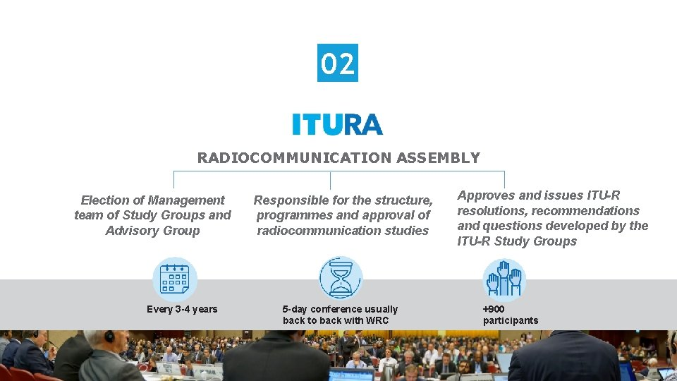 02 RADIOCOMMUNICATION ASSEMBLY Election of Management team of Study Groups and Advisory Group Every