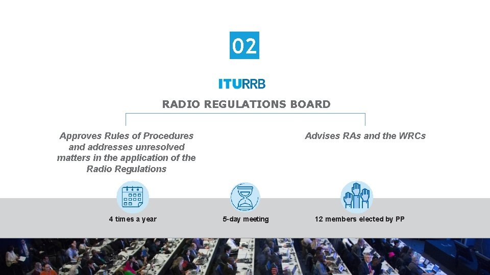 02 RADIO REGULATIONS BOARD Approves Rules of Procedures and addresses unresolved matters in the