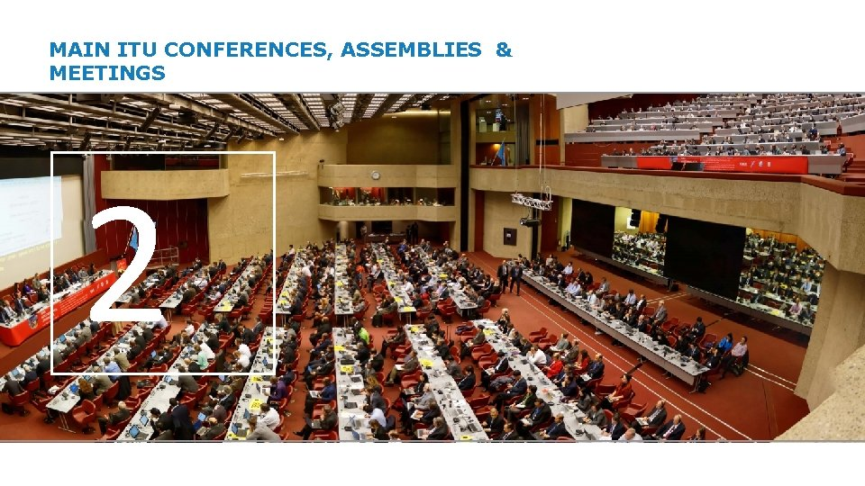 MAIN ITU CONFERENCES, ASSEMBLIES & MEETINGS 2