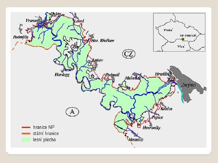 NÁRODNÍ PARK PODYJÍ Národní park Podyjí je dosud jediným moravským národním parkem. Je se