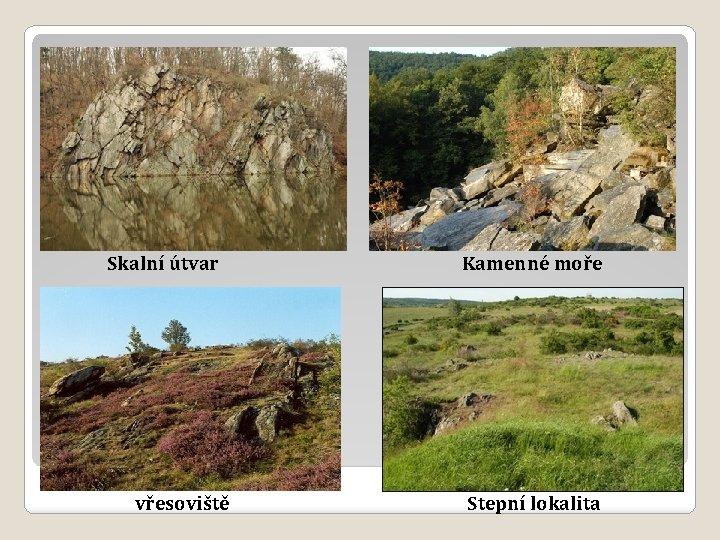 Skalní útvar vřesoviště Kamenné moře Stepní lokalita