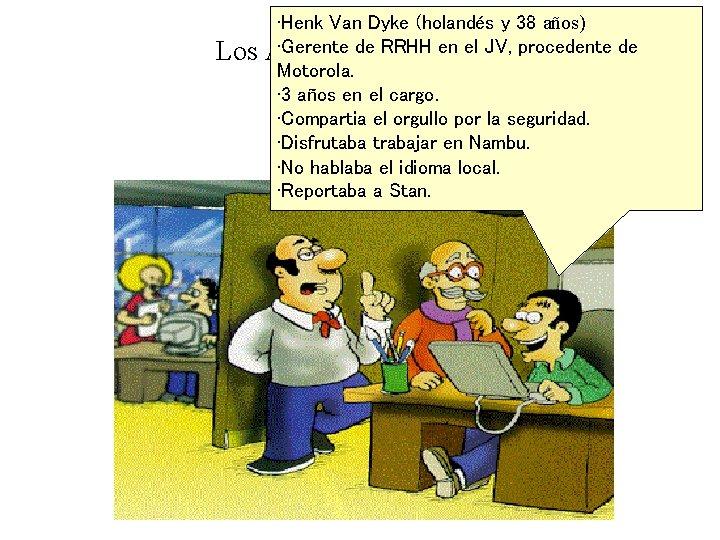 Los • Henk Van Dyke (holandés y 38 años) • Gerente de RRHH en