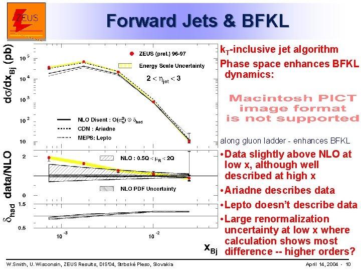Forward Jets & BFKL k. T-inclusive jet algorithm Phase space enhances BFKL dynamics: along