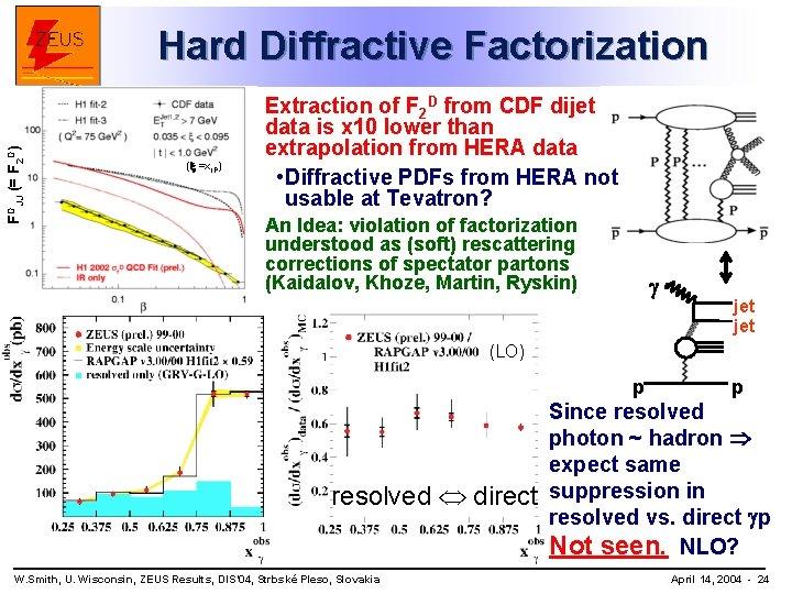 FDJJ (= F 2 D) Hard Diffractive Factorization (x =x. IP) Extraction of F