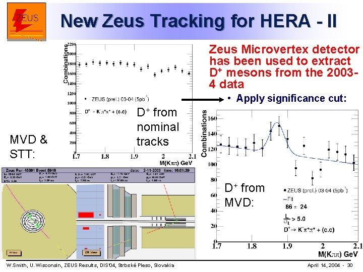 New Zeus Tracking for HERA - II Zeus Microvertex detector has been used to