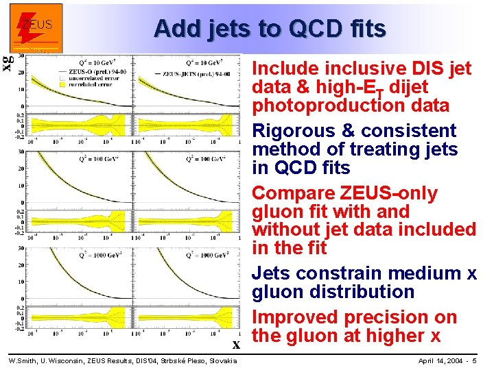 Add jets to QCD fits Include inclusive DIS jet data & high-ET dijet photoproduction