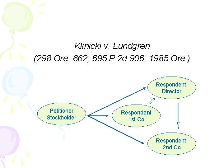 Klinicki v. Lundgren (298 Ore. 662; 695 P. 2 d 906; 1985 Ore. )